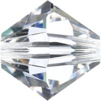 Swarovski Crystal Beads 4mm bicone (5301 and 5328) crystal transparent
