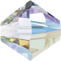 Image Swarovski Crystal Beads 4mm bicone 5328 crystal AB (aurore boreale) transparent