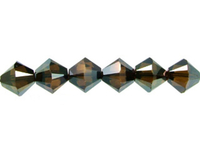 Swarovski Crystal Beads 4mm bicone 5328 crystal bronze shade 2X transparent with finish