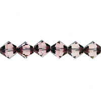 Image Swarovski Crystal Beads 4mm bicone 5328 crystal antique pink transparent with fi