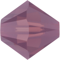 Swarovski Crystal Beads 4mm bicone 5328 cyclamen opal (purple) opalescent