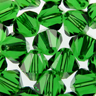 Swarovski Crystal Beads 4mm bicone (5301 and 5328) dark moss green transparent
