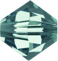 Swarovski Crystal Beads 4mm bicone 5328 erinite (blueish green) transparent