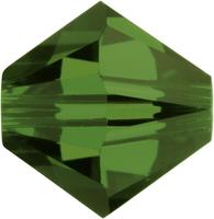 Swarovski Crystal Beads 4mm bicone 5328 fern green transparent
