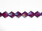 Swarovski Crystal Beads 4mm bicone 5328 garnet ab (dark red) transparent iridescent