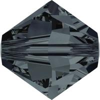 Swarovski Crystal Beads 4mm bicone 5328 graphite transparent