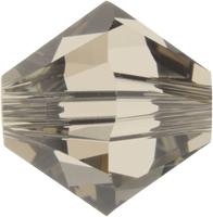 Swarovski Crystal Beads 4mm bicone 5328 greige (grey) transparent