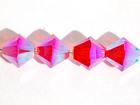 Swarovski Crystal Beads 4mm bicone 5328 hyacinth ab 2X (orange) transparent double iridescent