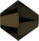Swarovski Crystal Beads 4mm bicone 5328 jet nut 2X (black with brown) full coat metallic