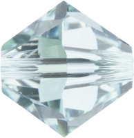 Swarovski Crystal Beads 4mm bicone (5301 and 5328) light azore (pale aqua blue) transparent