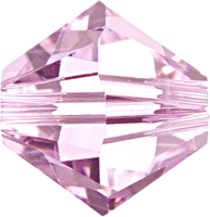 Swarovski Crystal Beads 4mm bicone 5328 rosaline (pale pink) transparent