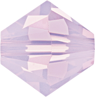 Swarovski Crystal Beads 4mm bicone 5328 rose water opal (pink) opalescent