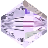 Swarovski Crystal Beads 4mm bicone 5328 smoky mauve ab transparent iridescent