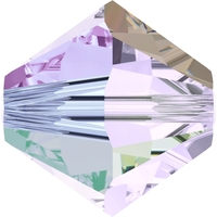 Swarovski Crystal Beads 4mm bicone 5328 smoky mauve ab 2X transparent double iridescent