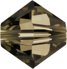 Swarovski Crystal Beads 4mm bicone 5328 smoky quartz (brownish grey) transparent