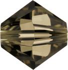 Swarovski Crystal Beads 4mm bicone 5328 smoky quartz (brownish grey) transparent