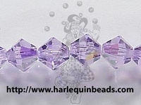 Swarovski Crystal Beads 4mm bicone 5328 violet ab (purple) transparent iridescent