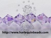 Image Swarovski Crystal Beads 4mm bicone 5328 violet ab (purple) transparent iridescen