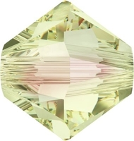 Image Swarovski Crystal Beads 5mm bicone 5328 crystal luminous green transparent with