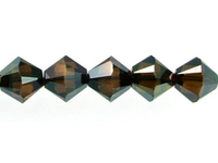 Swarovski Crystal Beads 5mm bicone 5328 crystal bronze shade 2X full coat