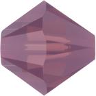 Swarovski Crystal Beads 5mm bicone 5328 cyclamen opal (purple) opalescent