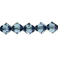 Image Swarovski Crystal Beads 5mm bicone 5328 denim blue transparent