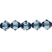 Swarovski Crystal Beads 5mm bicone 5328 denim blue transparent