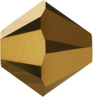 Swarovski Crystal Beads 5mm bicone 5328 crystal dorado 2X (dark gold) full coat