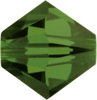 Swarovski Crystal Beads 5mm bicone 5328 fern green transparent