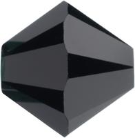 Swarovski Crystal Beads 5mm bicone (5301 and 5328) jet (black) opaque