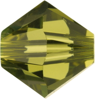 Swarovski Crystal Beads 5mm bicone 5328 khaki (green) transparent