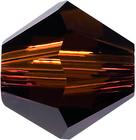 Swarovski Crystal Beads 5mm bicone 5328 mocca (reddish brown) transparent
