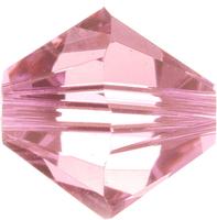 Swarovski Crystal Beads 5mm bicone 5328 light rose (light pink) transparent