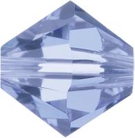Swarovski Crystal Beads 5mm bicone 5328 light sapphire (pale blue) transparent