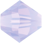 Swarovski Crystal Beads 5mm bicone (5301 and 5328) violet opal (purple) opalescent