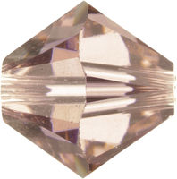 Swarovski Crystal Beads 5mm bicone 5328 vintage rose (pink) transparent