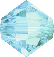Image Swarovski Crystal Beads 6mm bicone 5328 crystal blue shade transparent with fini