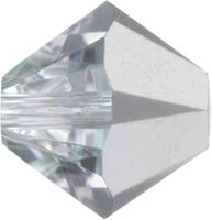 Image Swarovski Crystal Beads 6mm bicone 5328 comet argent light (silver) transparent