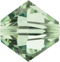 Swarovski Crystal Beads 6mm bicone 5328 chrysolite (pale green) transparent