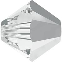 Swarovski Crystal Beads 6mm bicone 5328 crystal light chrome transparent with finish