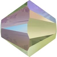 Image Swarovski Crystal Beads 6mm bicone 5328 crystal paradise shine transparent with