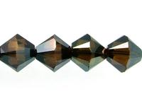 Swarovski Crystal Beads 6mm bicone 5328 crystal bronze shade 2X full coat