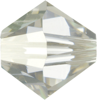 Image Swarovski Crystal Beads 6mm bicone 5328 crystal silver shade transparent with fi