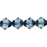 Image Swarovski Crystal Beads 6mm bicone 5328 denim blue transparent
