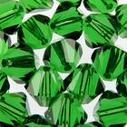 Swarovski Crystal Beads 6mm bicone 5328 dark moss green transparent