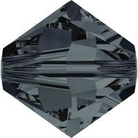 Swarovski Crystal Beads 6mm bicone 5328 graphite transparent