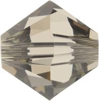 Swarovski Crystal Beads 6mm bicone 5328 greige (grey) transparent