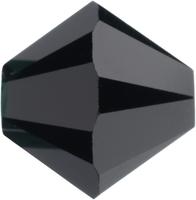 Swarovski Crystal Beads 6mm bicone 5328 jet (black) opaque