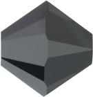 Swarovski Crystal Beads 6mm bicone 5328 jet hematite 2X (gunmetal) full coat