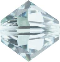 Swarovski Crystal Beads 6mm bicone 5328 light azore (pale aqua blue) transparent
